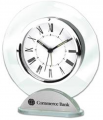 Silver & Glass Alarm Clock
