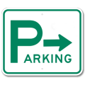 PARKING DIRECTIONAL with Right Arrow Sign