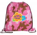 Non-Woven Camo Drawstring Backpack