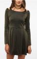 Silence & Noise Ponte Slit Shoulder Dress