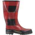 143 Girl RAISIN Black/Red Plaid Boots