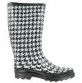 143 Girl RAISIN Black/White Houndstooth Boots