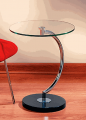 """Chrome and Glass """"C"""" Table"""