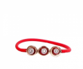 Murano Jelly Bracelet Triple Red