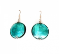 Murano Bella Earrings LG Green Silver