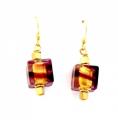 Cubetto Earrings Plum Swirl