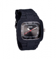 Drops Mineral Stainless-Steel Black Unisex Watch