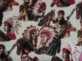 Fabri Quilt Indians & Ponies 1H99 Fabric