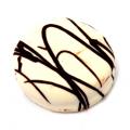 Sandwich Cookies - White Chocolate Coated w/ Dark Drizzle