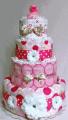 4-Tier Centerpiece Diaper Cake