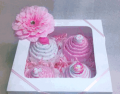 Receiving Blanket Cupcakes (4-pack)