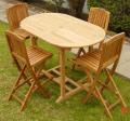Oval Bar Table Set