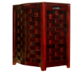 Mahogany Finished Bowed Front Laundry Hamper