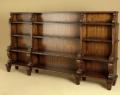 Aged Regency Finished Carved Open Bookcase