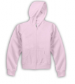 Pink Ladies Full Zip Hooded Sweatshirt