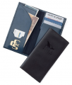"""LB198 9"""" x 4 1/2"""" Bonded Leather Travel Wallet"""