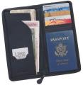 "LR1154 9 3/16"" x 4 1/2"" Top Grain Leather Travel Wallet"