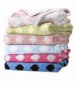 Chunky Chenille Polka Dot Baby Blanket