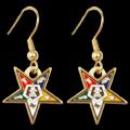 Eastern star (OES) earrings