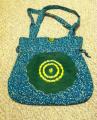 Green Hand Dyed Batik Cloth Handbag