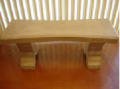 Bow Tie & Curved Style Bench
