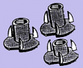 Three-Prong Tee-Nuts