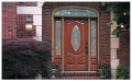 Classic-Craft Mahogany Fiberglass Entry Door