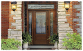 Classic-Craft Oak Fiberglass Entry Door