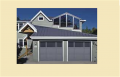 Custom Mixed Panel Garage Door
