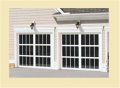 Custom French View Garage Door