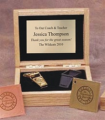 Award Whistle in Oak Box