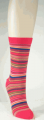 Striped Cotton Women's Socks Red