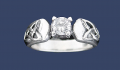 Q3066 Sterling Silver Trinity Knot Ring