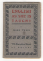 English As She Is Taught (Item #: 3948) Mark Twain Book