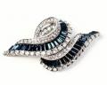 Sapphire Swirl Brooch