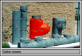 Thermal, acoustical, chilled water and personnel protection insulation covers
