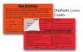NCR Warning & Violation Stickers