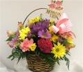 Basket Seasonal Flower Garden