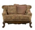 Bazille Chenille Chair-and-a-Half