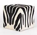Zebra Cowhide Cube