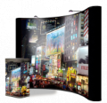 10 Foot Concave All Fabric Pop Up Display