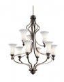 Large Chandeliers-Glass Shade