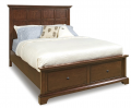 Retreat Cherry 1531 Storage Panel Bed