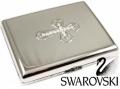 Genuine Swarovski Crystal Cross Full Pack Cigarette Case