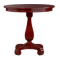 Esme Rosso Red Pedestal Table