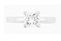 Ring Princess Cut Diamond V