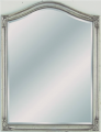 Beveled Mirror Pewter Archtop