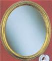 No Bevel Antique Gold Oval Mirror