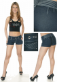 Wholesale Shorts Stone & Button Trimmed Cuffed Shorts by Pony Tail Clothing