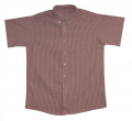 Boy's Short Sleeve Striped Oxford Cloth Shirt